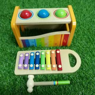 Hape hammer toy with xylophone