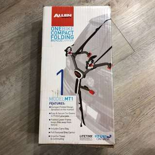 Allen's one bike compact folding bicycle carrier