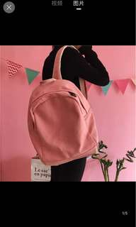 [P.O] Canvas Backpack Bag