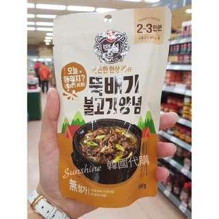 現貨 韓國食品 BEKSUL 烤肉 湯底  150g