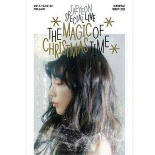 [MYGO/PO] SNSD Taeyeon Special Live DVD ( Magic of Christmas )