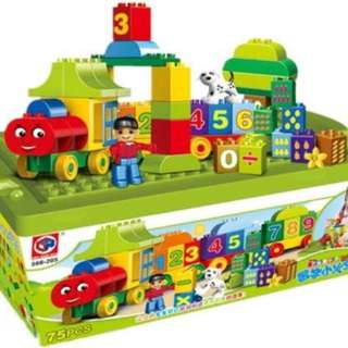 75pc Number Train Big Block
