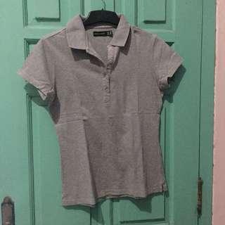 Polo shirt grey kaos polo abu