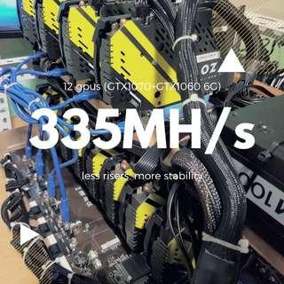 330MH/s Mining rig gtx 1070 1060