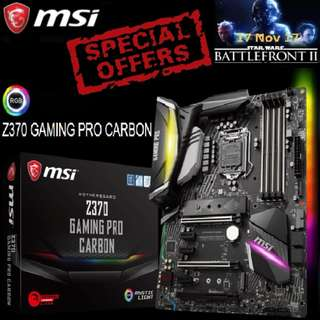 MSI Z370 GAMING PRO CARBON.  ( Special Offer )