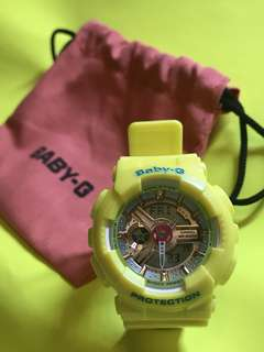 Baby-G CASIO 5338P*JA 黃色手錶 Yellow watch 可議