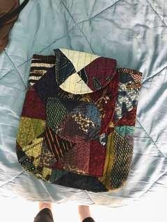 Batik Backpack Bag