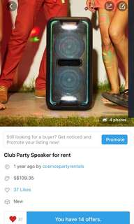 Rent>Sony party speaker