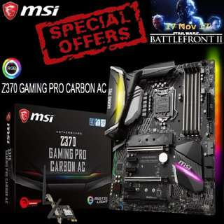 MSI Z370 GAMING PRO CARBON AC. ( Special Offer )