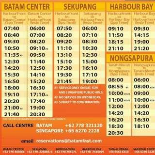 Batam Fast Ferry E-ticket