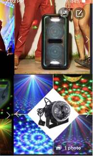Rent party laser, fog & strobe lights, speaker