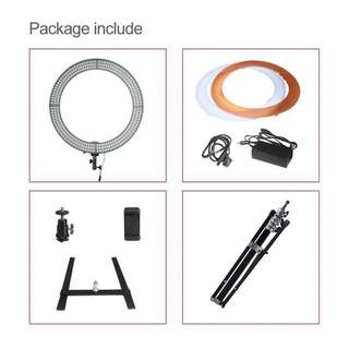 """[PRE-ORDER] 18"""" Ring Light w/Stand + Table Mount"""