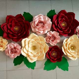 PAPER FLOWER FOR BACKDROP