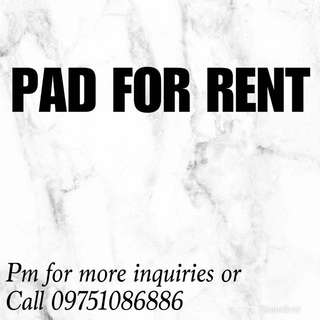 Room/Pad for RENT