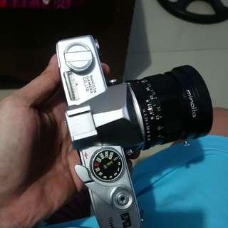 Minolta SR-7  film camera with minolta 58 1.4
