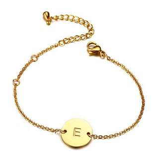 [SALES]🔳ELEGANT LETTER ENGRAVED BRACELET WOMEN GOLD STAINLESS STEEL BRACELET CHAIN LINK ADJUSTABLE LENGTH WOMEN FASHION JEWELRY🔳