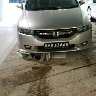 Lucky car no plate