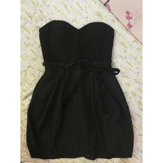 REPRICED! Black Bustier Cocktail Dress