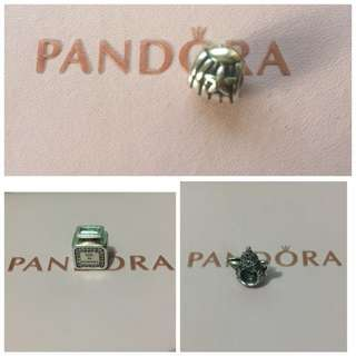 Repriced at 1000 each!!! Authentic Preloved Pandora Charms