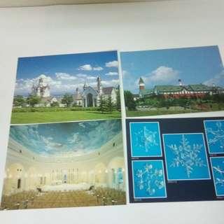 日本北海道傳統工藝村明信片4張