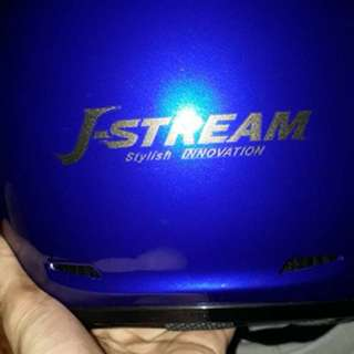 Shoei j-stream biru