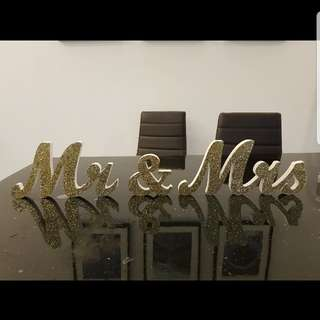 Wedding Deco-Mr&Mrs