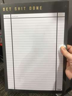 Typo to do list writing pad