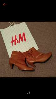 H&M 咖啡 裸靴 短靴 6