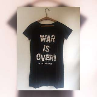 War is over T-shirt/casual dress