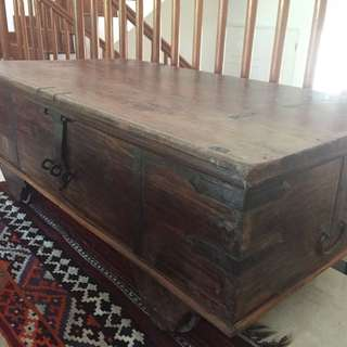 Old Indian wedding chest