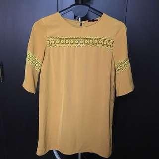 ZALORA Mustard Yellow Dress