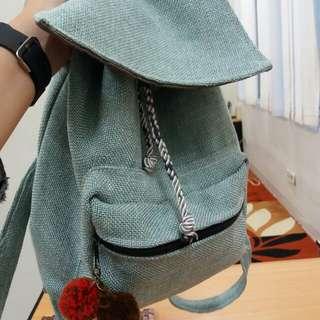 Jute green backpack