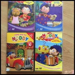 Pre-loved noddy dvds (set of 4)