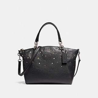 Coach Small Kelsey Satchel with Stardust Studs