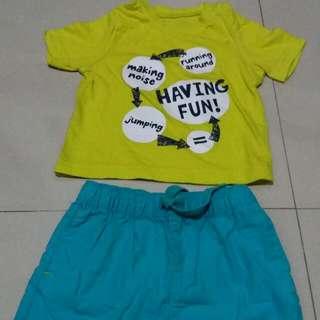 T-shirt And Short Pants