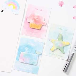 [INSTOCK] Pastel Watercolour Sticky Note/ Postit