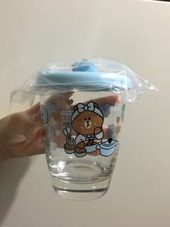 Line Friends玻璃杯
