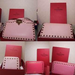 割愛🈹保證100%正品Valentino各款手袋及長短銀包[粉紅控]