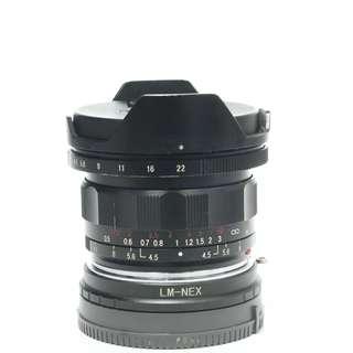 Voigtlander Super Wide Heliar 15mm f4.5 Aspherical III Lens (M-Mount) + Adapter to E-Mount
