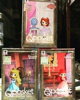 最新Qposket 公主系列美人魚,睡公主、Sofia公仔擺設[極高質]