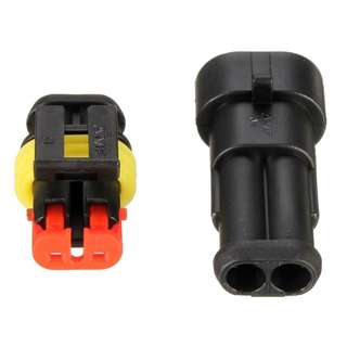 Waterproof connector wire harness 2 pin