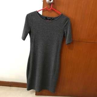 Zalora body con grey t-shirt dress