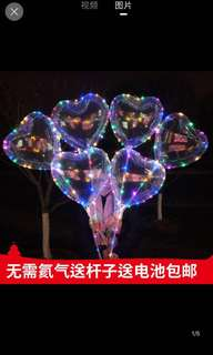 LED HEART SHAPED BALLOONS (INSTOCKS)