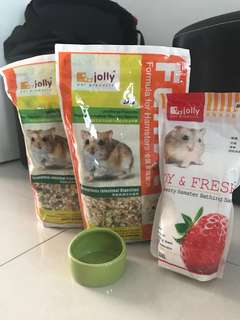 [Bundle] Hamster Food / Sand / Bowl
