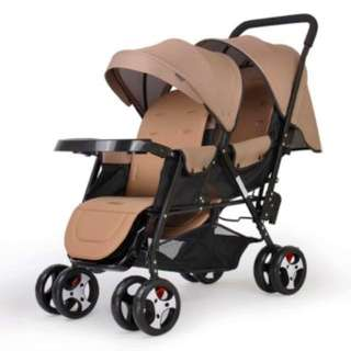 Double Stroller (Brown)