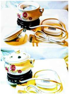 Premium Electric burner with stand (White with flowers design ~ porcelain)S$88