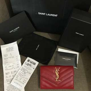 YSL Wallet ( New )New 2017 complete set with recipt singapore 2017