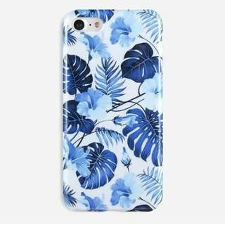 Blue Floral Glossy Case