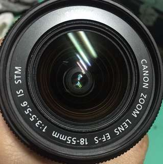 Canon zoom lens EF-S 18-55mm 1:3.5-5.6 is stm