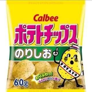 日本直送 Calbee紫菜薯片